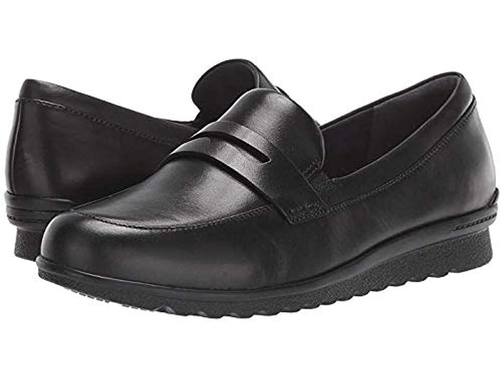 預言者カバレッジキャロライン[ARAVON(アラヴォン)] レディースローファー?靴 Josie Penny Black (25cm) M (B) [並行輸入品]