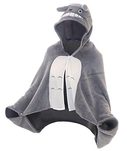 CoolChange kuscheliger Totoro Fleece Poncho mit Kapuze Größe: S