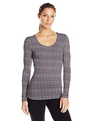 Heat Womens Medium Weight Base Layer Shirt Heather Light Stone X-Large