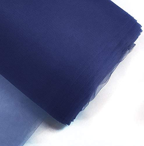 """Craft and Party, 54"""" by 40 yards (120 ft) fabric tulle bolt for wedding and decoration (Navy Blue)"""