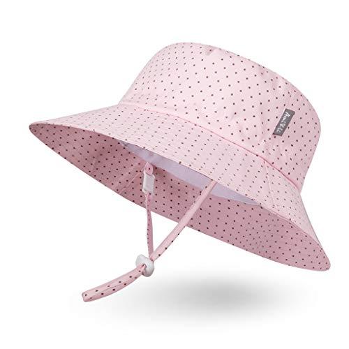 Ami&Li tots Bucket Sun Hat Adjustable Sunscreen Protection Summer Hat...