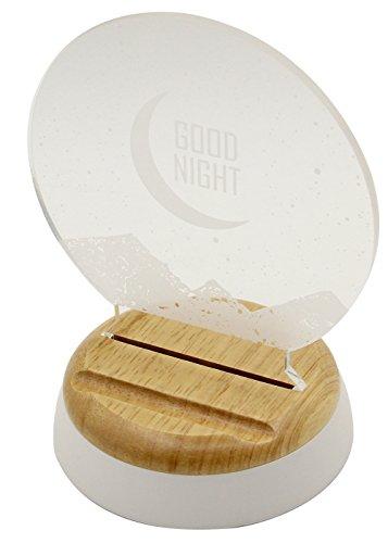 Innomark LED Veilleuse | Lampe de Nuit avec Diffuseur de Parfum | avec Base en Bois Véritable | | Lumière d'Orientation | Motif: Fluttering Dandelion
