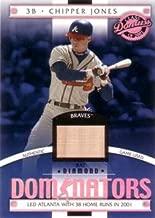 2001 Donruss Class of 2001 Diamond Dominators #DM-28 Chipper Jones Game Used Bat Baseball Card - Only 725 made!
