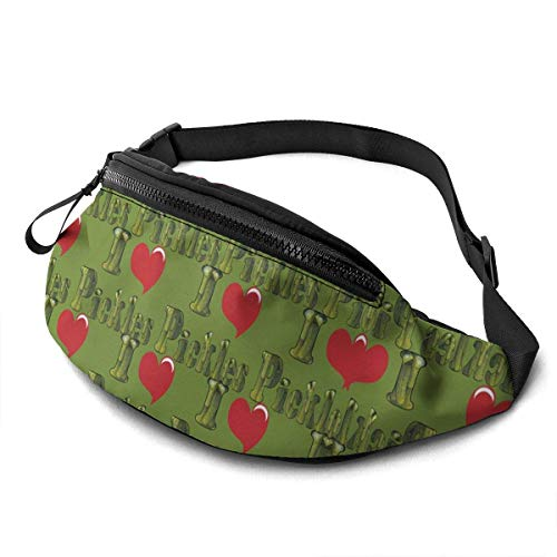 XCNGG Bolso de cintura corriente bolso de cintura de ocio bolso de cintura bolso de cintura de moda I Love Pickles Waist Pack Bag for Men Women,Casual Fanny Packs with Headphone Socket Hip Bum Bag for