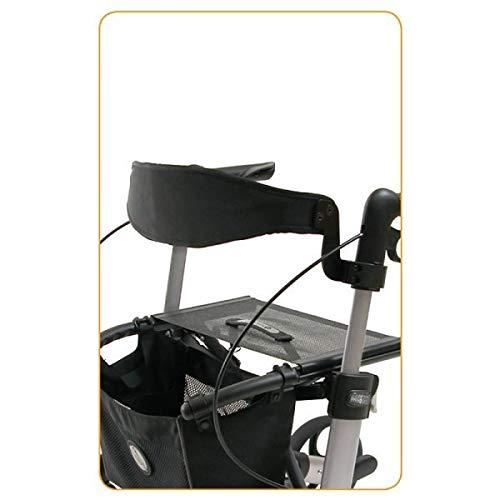 SoNa24 Rückengurt/Rückenlehne/Back support leicht gepolstert für GEMINO Rollator 20+30+60 komplett mit Montagezubehör