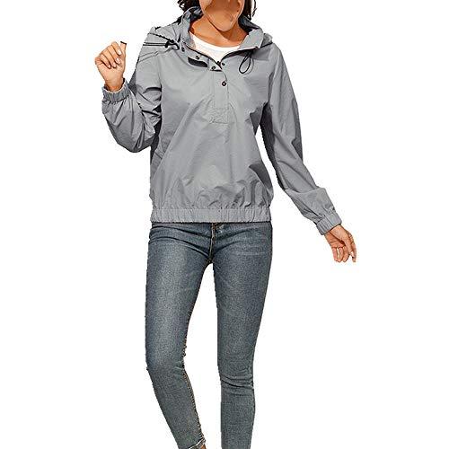 Chaqueta con capucha para mujer de verano con banda elástica casual para mujer