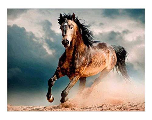 ZGPTOP Rompecabezas Animal Running Horse Scene Puzzle Juegos de Arte para educativos, Rompecabezas de Madera Puzzles 300/500/1000/1500 Piezas (Size : 500P)