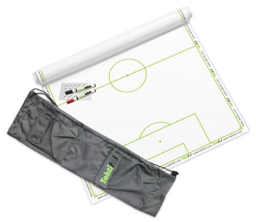 OUZIGRT Taktifol Fussball Set Rolle mit 25 Blatt inkl. Tasche und Zubehör