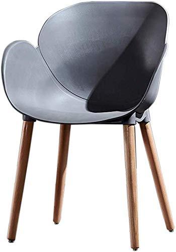 ZXL Huis met rugleuning, eetkamerstoel, houten stoel, benen slaapkamer, slaapzaal, studie-kaptafel stoel, Nordic modern, minimalistische stijl (kleur: camel) grijs