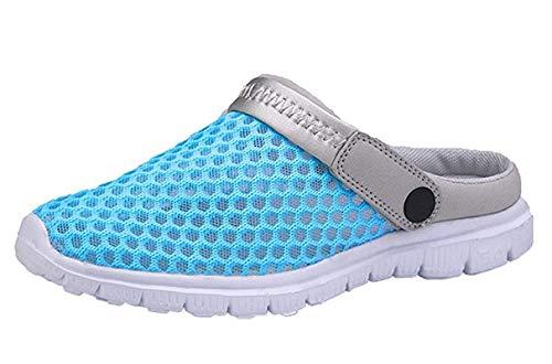 CCZZ Femmes Hommes Sabots Perforés à Enfiler Respirante Chaussons de Jardin Plage Sandales D'Été Chaussures pour Jardin Tous Les Sports de Plage,Clair de Lune,40 EU