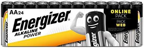 Energizer Alkaline Power Batterie Aa, 24 Pezzi