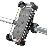 Dracool Soporte Movil Bicicleta Bici Soporte Movil Moto Motocicleta Anti Vibración 360° Rotación Manillar Universal para iPhone Samsung Huawei Xiaomi LG y Otro 4.0-7.0 Pulgadas Móvil - Negro
