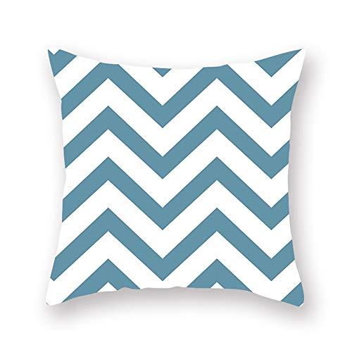 HZMM Cushion cover Cushion cover polyester fiber style pillowcase sofa cushion home decoration pillowcase (Color : 05, Size : 45x45cm)