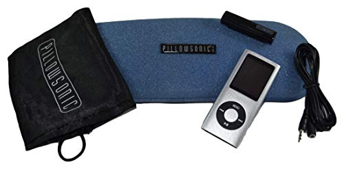 Pillowsonic Under-Pillow Speaker System with Bluetooth Wireless and MP3 Player- Blue/Silver