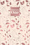 2021: Diary Day to Page A5 Full Day to View Daily Planner | Lined Writing Journal | Rose Gold Foil Leaves Vines Pattern (2021 A5 Daily Diaries)