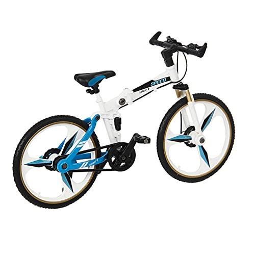 Metall Fahrrad Miniatur, Downhill Mountainbike Spielzeug, 1:18 Off Road Home Decor Miniatur Finger Bike Modell Druckguss Spielzeug Geschenke für MN86 D90, ohne das Auto