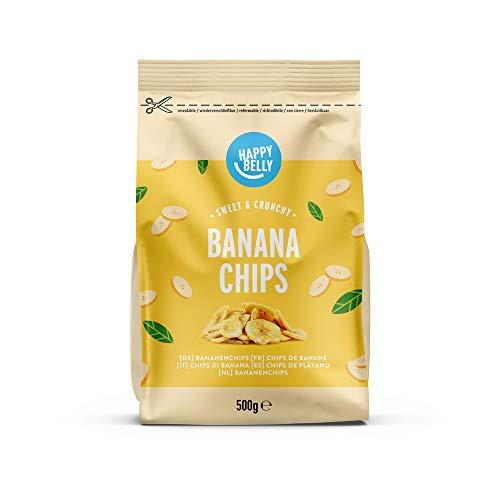 Marque Amazon - Happy Belly Chips de banane, 500 g