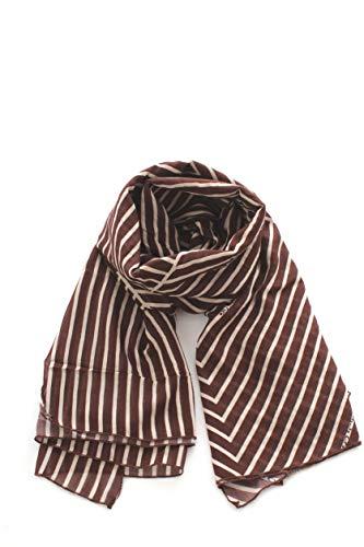 MANILA GRACE FONTANA foulard stampato da donna marrone,F108SS