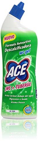 Ace WC + Tubería Gel, Fórmula Autoactiva Descalcificadora sin Lejía - 70 cl