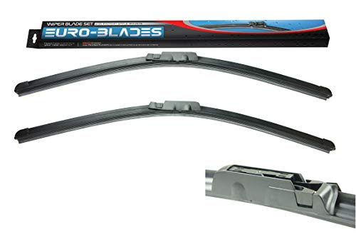 EURO-BLADES Front Windshield Wiper Blades set Compatible with Audi A6 C6 2...