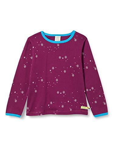 loud + proud Kinder-Unisex Druck T-Shirt, Plum, 98/104