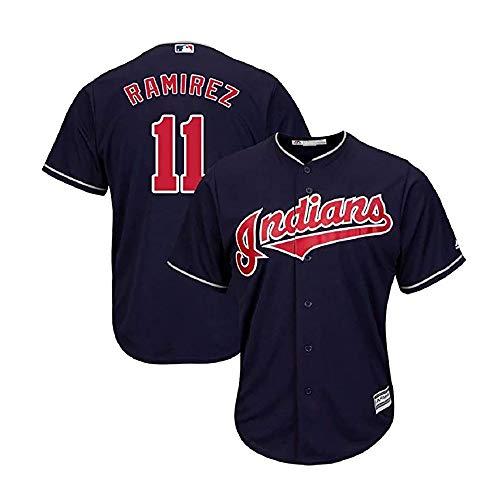 Xiaobudian personalisiertes Baseballuniform-Sweatshirt Cleveland Indians T-Shirt mit Namen und Nummern für Männer Frauen Jugend Bestickt