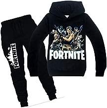 Spring Autumn fortnite Sports suit 2 pieces set Tracksuits Kids Casual clothe Set Coat+Pant