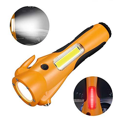 VISLONE Multifunción COB LED Linterna Seguridad Linterna de