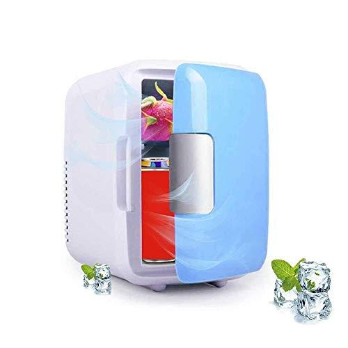 Tostador de Raxinbang Buena mini nevera, 4 litros portátil Mini refrigerador con el coche de cable de carga, super tranquilo en el vehículo del congelador for el coche, dormitorio, oficina, rosa