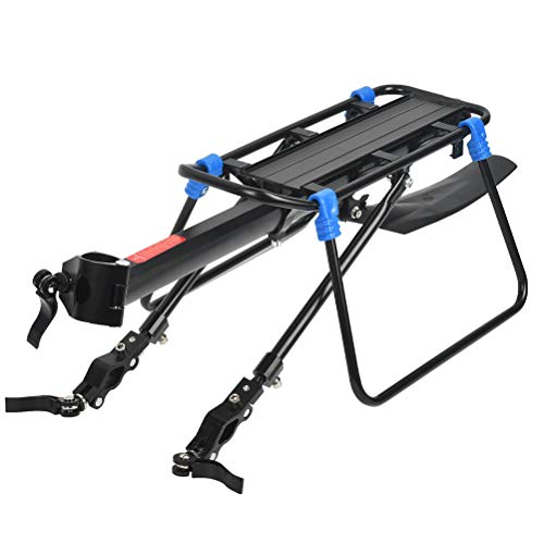 N\A Rear Bike Rack Carrier, Adjustable Mountain Bike Back Seat Rack Holder with Rear Fender and Reflector for Seat Pole Installation Within 33MM