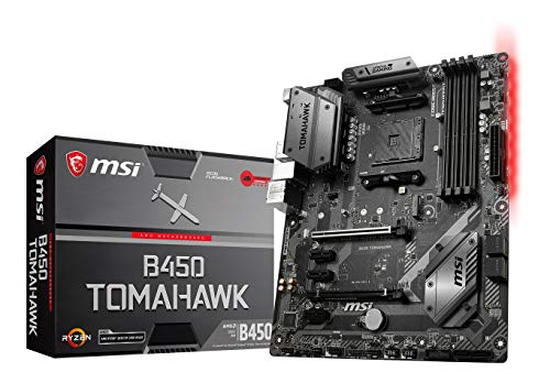MSI Arsenal Gaming AMD Ryzen 1st and 2nd Gen ATX Motherboard (B450 TOMAHAWK)