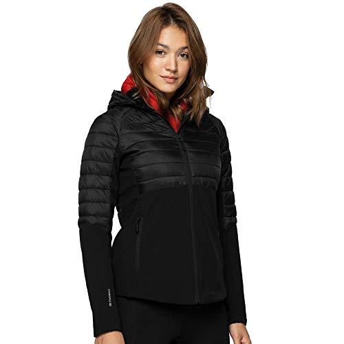 Outhorn Damen Jacke Softshelljacke Sportjacke Steppjacke Hybrid Funktionsjacke schwarz (XL)