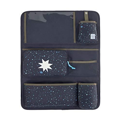 LÄSSIG Autoorganizer Autorücksitzorganizer Rücksitztasche mit Tablet Fach für Auto zum Hängen zusammenklappbar/Magic Bliss Boys, 55 cm