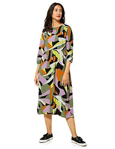 Street One Damen 142743 Midikleid Kleid, Pure Violet, 42