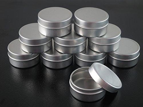 Groupcow 20Stk 10ml Blechdosen Aluminium Leer Döschen Creme Dosen Tiegel Für Kosmetikum