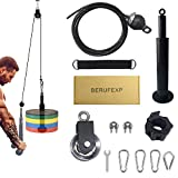 Berufexp Pulley System Gym Compatible with Standard/Olympic Weights Upgraded Workout Equipment for Home Workouts with Metal Gym Pulley Exercise Equipment for Home Workouts Gym Equipment for Home
