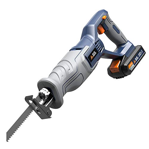 Blue Ridge BR2801U 20V MAX Cordless Reciprocating Saw with Lithium-Ion Battery and Charger,Variable speed
