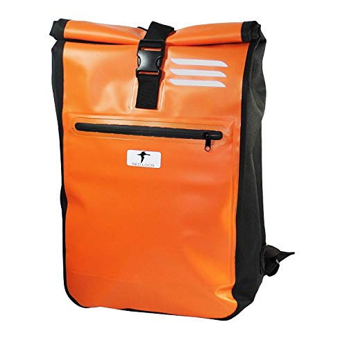 Red Loon Messenger Courier Bag Truck Tarpaulin Messenger Bag Backpack Bicycle Black or Orange, Orange