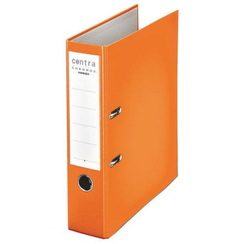 Leitz 230135 - Raccoglitore in plastica Chromos, ad anelli, formato A4, dorso ampio, colore: Arancione