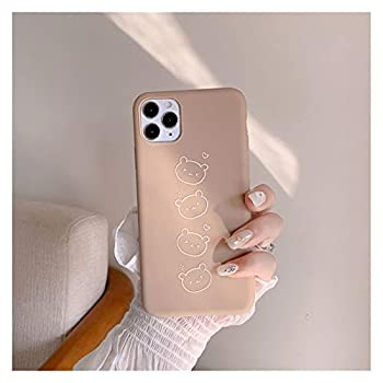 YLFC Cartoon Simple Bear Cute Korean Couple Phone case for iPhone 12 11 Pro XS Max XR X case for iPhone 12 Mini 7 8 7 Plus Soft Cases  Color   02 Size   for iPhone 12pro