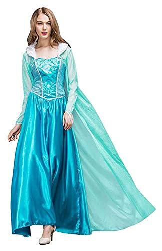 Seupeak Mujer carnaval cosplay traje elegante cenicienta princesa vestido con guantes adultos cuento de hadas quinceañera halloween fotografía traje fiesta fiesta fiesta fiesta regalo regalo S-XXL