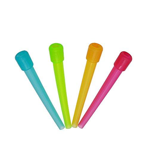 Preisvergleich Produktbild ADMY Wasserpfeifenspitzen,  Einweg,  BPA-frei,  Kunststoff,  einzeln verpackt,  Mundschlauch-Zubehör,  dicke,  lange männliche Enden,  sauber,  bunt