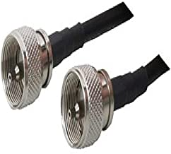 US Made 6 ft Pl-259 Jumper - Andrew Commscope Cnt-240 Coaxial Cable 6ft Ham or CB Radio Antenna Coax Uhf VHF HF LMR240 Times Microwave Coaxial Cable Antenna RF Transmission Line Connector