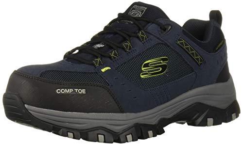 Skechers Men's Greetah Construction Shoe, Navy/Black, 9.5 W US