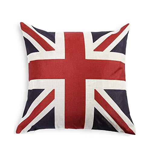 L'Union Jack Buttare Bandiera Inglese Cotone Lino Piazza Decorativo Federa Cuscino 18'X18'