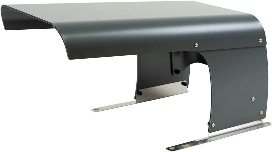 IDEA MOWER Garage Cortacésped Vader Micro, cubierta para estación de carga de coche, compatible con Ambrogio Robot, techo de carga, protección de aleación de aluminio, techo abatible