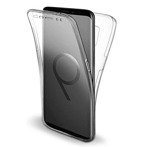 NewTop Cover per Samsung Galaxy S9, Custodia Crystal Case in TPU Silicone Gel PC Protezione 360° Fronte Retro Completa