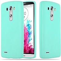 Cadorabo Funda para LG G3 en Candy Azul – Cubierta Proteccíon de Silicona TPU Delgada e Flexible con Antichoque – Gel Case Cover Carcasa Ligera