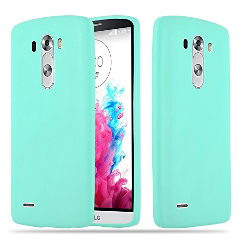 Cadorabo Hülle für LG G3 - Hülle in Candy BLAU – Handyhülle aus TPU Silikon im Candy Design - Silikonhülle Schutzhülle Ultra Slim Soft Back Cover Case Bumper