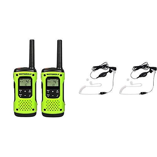 Buy Bargain Motorola T600 Talkabout Radio, 2 Pack Bundle with Motorola 1518 Surveillance Headset wit...